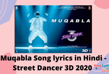 मुकाबला - Muqabla Song lyrics in Hindi - Street Dancer 3D 2020